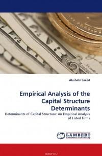 an empirical analysis of capital structure