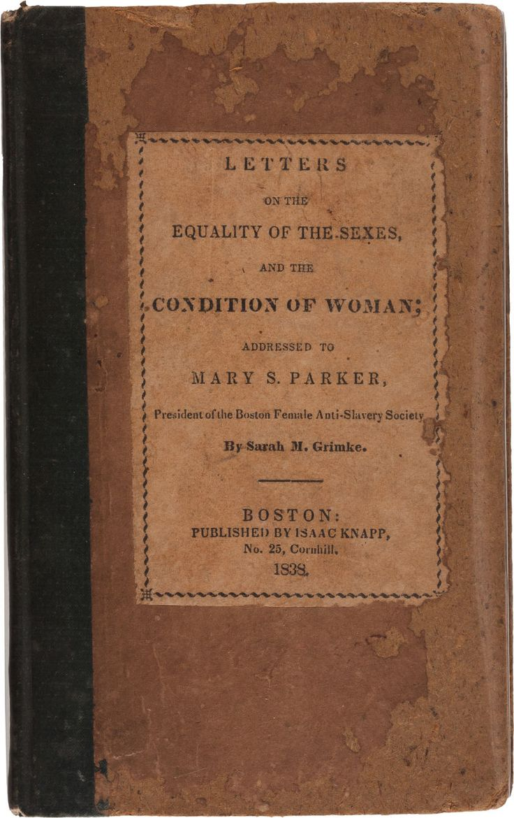 Sarah grimke letters on the equality of the sexes photo 59