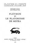 François Masai — Pléthon et le Platonism de Mistra