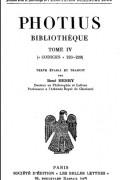 Photius - Bibliothèque, tome IV: codices 223-229