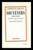 Georgette Leblanc - Souvenirs : 1895-1918